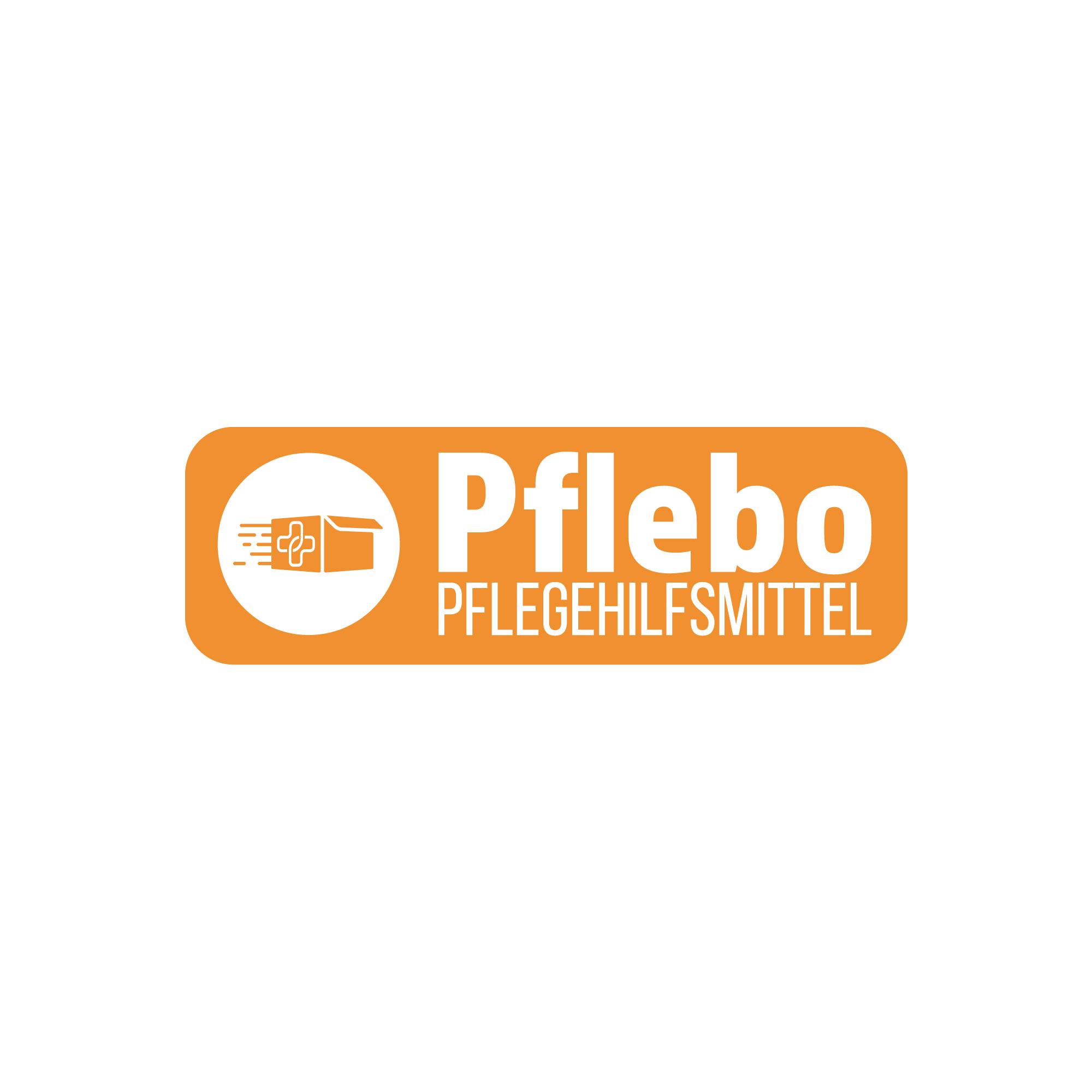 Logo Pflebo - Orange mit weißer Schrift